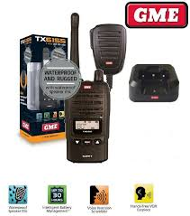 gme tx6155 waterproof dustproof 5w replaces tx6150 handheld 80 channel radio ebay