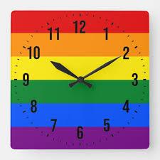lgbt rainbow pride flag square wall
