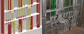 interior metal framing. Modren Interior In This Example The Conduit And Wall Framing Have Been Planned To Work  Together Interior Metal Framing