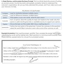 what are some good strategies for essay tests college of   review and annotate chart