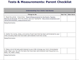 Wisc V Score Chart Tests Measurements Parent Checklist Wrightslaw