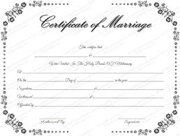 Certificate Of Marriage Template - April.onthemarch.co