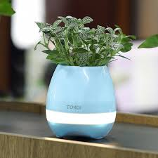 wireless office speakers. Smart Music Flower Pot Bluetooth Speaker Multi-color LED Light Round Wireless Speakers For Office