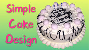 Simple Cake Design Pictures How To Make A Simple Cake Design 2 117