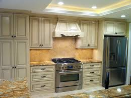 Kitchen cabinet with book matched natural hickory veneer doors and ...