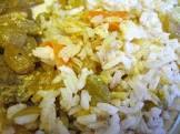 basmati rice with carrots  raisins and spices  kabli