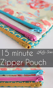 how to sew a zipper pouch 15 minute sewing project melly sews great