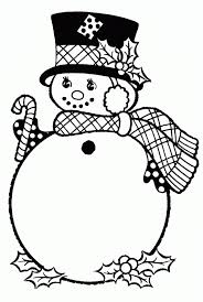 Small Picture Coloring Pages Winter Snowman With Hat Winter Coloring pages of