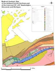 digital bedrock geologic map of the ashland and northern part of Ashland Map geologic units and structural features (reduced size image) ashland maplewood