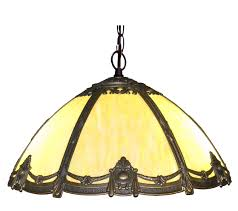 antique style victorian stained bented glass hanging lamp