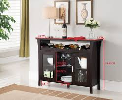 Amazoncom Kings Brand Furniture Wine Rack Buffet Server Console