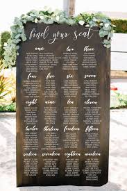 Seating Chart Goals Wedding Seating Chart Sign Wooden