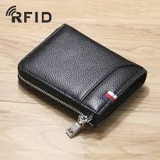 zipper wallet rfid blocking