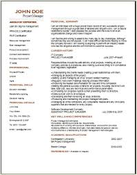 Management Resume Templates Project Management Resume Occupational Examples Samples Free Edit