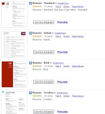 Resume Format Google Download Resume Templates 19 Google Docs Resume Templates 100 Free