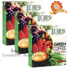 pms green coffee with buah merah box of 10s 21g set os 3