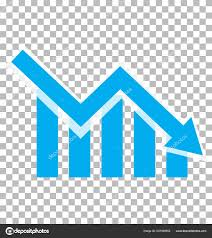 Chart Bars Declining Chart Icon Transparent Background Loss