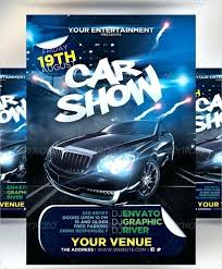 Car Advertisement Template Car Show Flyer Templates In