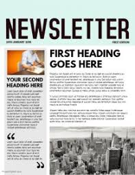 Custom Newspaper Template Design A Newsletter Free Templates Postermywall