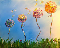 i showed up grabbed a drink and was given paints brushes and a blank canvas beginners to experienced painters alike can enjoy it