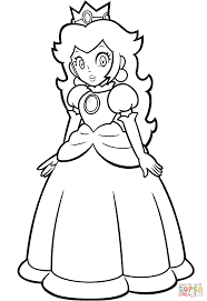 Small Picture Mario Princess Peach coloring page Free Printable Coloring Pages
