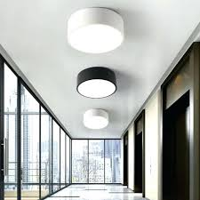 home office ceiling lights balcony mini led light style black white porch lamp home office round