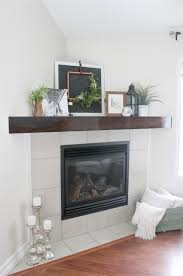 a quick and easy diy tutorial for a wooden mantle piece to upgrade your corner mantle