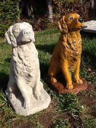 dog garden statue. Concrete Dog Statues   Unique Lawn Garden Statue