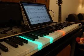 Piano Key Lights New Illuminating Piano Works With Ipad Or Windows To Light