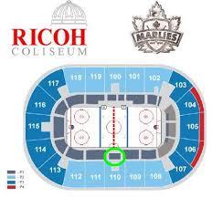 Ricoh Coliseum Seating Map Color 2018