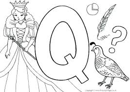 Letter A Coloring Pages For Toddlers Letter Q Coloring Pages