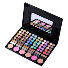 pro full 78 colors pro eyeshadow palette makeup powder cosmetic brush kit box with mirror women make up tools in eye shadow from beauty health on