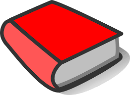 book red thick blank closed cover