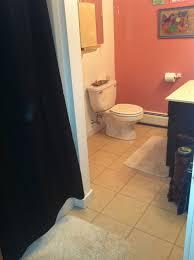 bathroom vinyl tiles before here