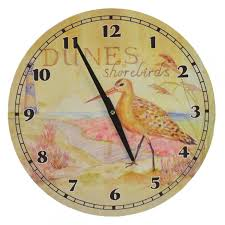 hanging wall clock dunes sbirds