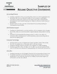 Example Career Objectives Writing A Resume Objective Examples Of For