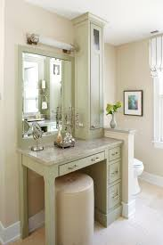 Small \u0026 Stylish Makeup Vanity | HGTV | Bathroom design ideas ...