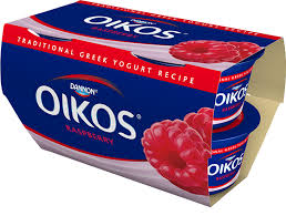 dannon oikos traditional greek yogurt raspberry flavor 4 pack raspberry traditional 4 pack