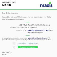 hirevue interview questions maxis scholarship interview its time for q a