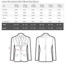 Mens Size Charts Urban Boundaries