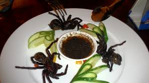 Image result for eating tarantulas in a can