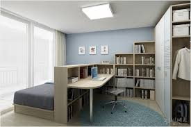 home office archives. Bedroom Home Office Combo Divided With Bookcase Ideas On Archives Alluring Decorating