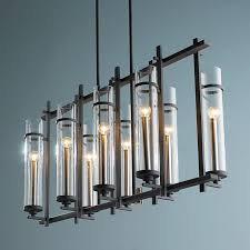 pendant lighting chandelier. clearly modern glass tubes island chandelier pendant lighting