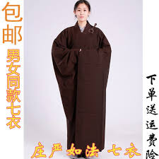 Mingyin layman seven-clothed monk clothing men and women autumn monk  clothing magnolia color ladies sea green clothing brown Buddhist monk robe