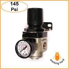 air pressure regulator. primefit 3/8\u0027\u0027 air compressor pneumatic pressure regulator control tool 145 psi air r