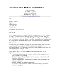 Engineering Cover Letter Summer Job Templates At