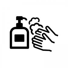 石鹸で手洗いのシルエット02 無料のaipng白黒シルエットイラスト