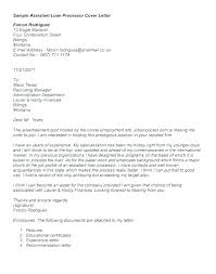 Mortgage Loan Processor Cover Letter Loan Processor Resume Example