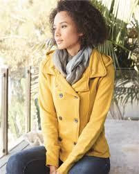 prm350pc juniors premium heavy textured fleece pea coat