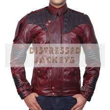 guardians of the galaxy vol 2 jackets men s red leather jackets